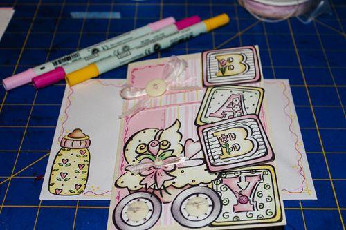 Jvanderbeek_helmar_babycard_pen_detailing_card_envelope