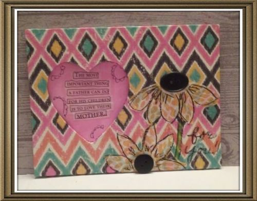 Helmar Decoupage Spring Frame with Tamiko