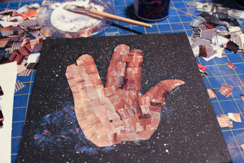 Jvanderbeek_helmar_space_canvas_collage_spock_vulcan_livelongandprosper