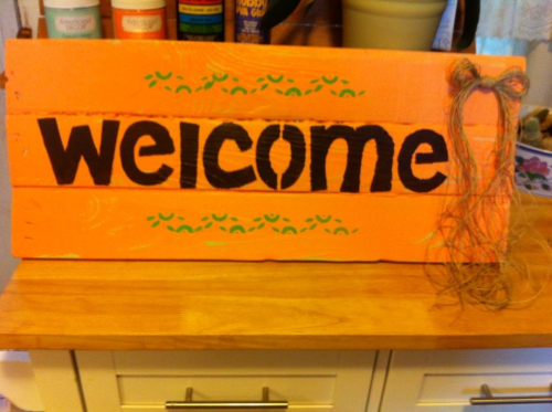 Helmar Welcome Sign