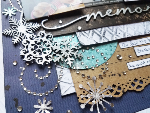 Winter scrapboook mixed media page by erin reed 1