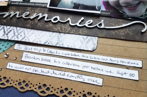 Winter scrapboook mixed media page by erin reed 4