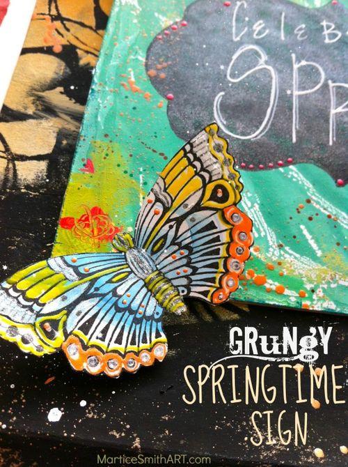GrungySpringtime-butterfly-sign-MarticeSmithART