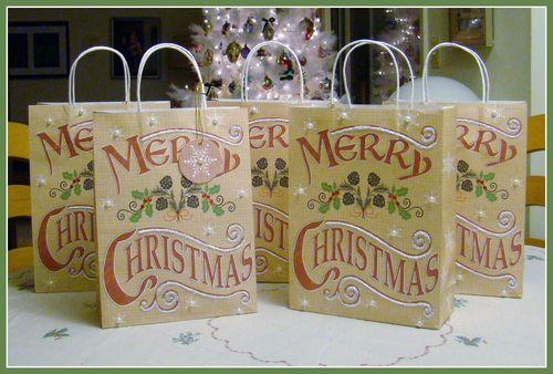 Cookie Exchange bags by Sandee Setliff for Helmar Worldwide Adhesives