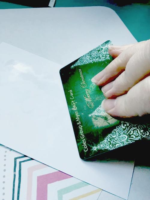 Dc card glue scraping