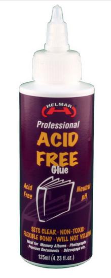 Acid free glue